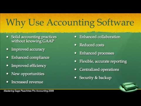 peachtree tutorial Chapter 1 INTRODUCTION TO PEACHTREE(1. Why Use Accounting Software)