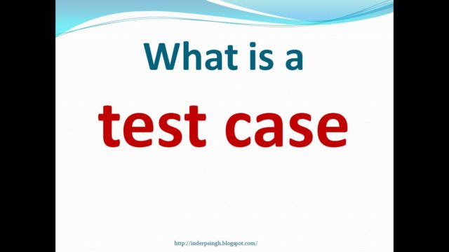 Manual Testing Training – What is Test Case – Example