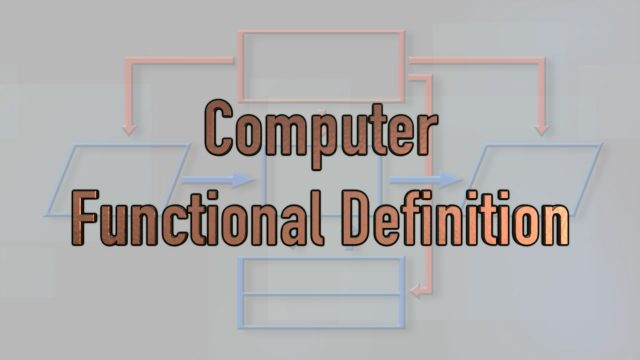 Functional Definition for Computer