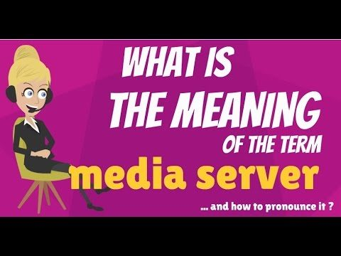 What is MEDIA SERVER? What does MEDIA SERVER mean? MEDIA SERVER meaning, definition & explanation