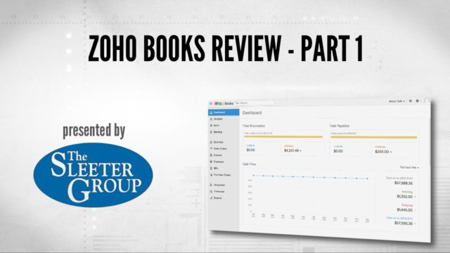 Zoho Books Accounting Software Review / Tutorial – Part 1