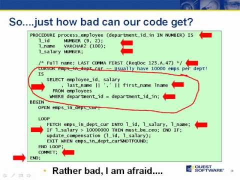 Practical Best PL/SQL Video Series – SPODify your code: aim for a Single Point of Definition