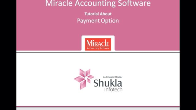 Payment Options – Tutorial – Miracle Accounting Software