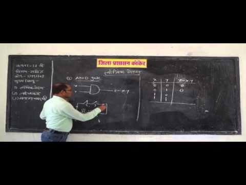 12M1902 IN HINDI Mathematical Boolean Algebra – Logic Gates and Propositions
