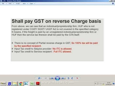 GST Transportation Charges Expenses under RCM Entries in Busy Accounting Software