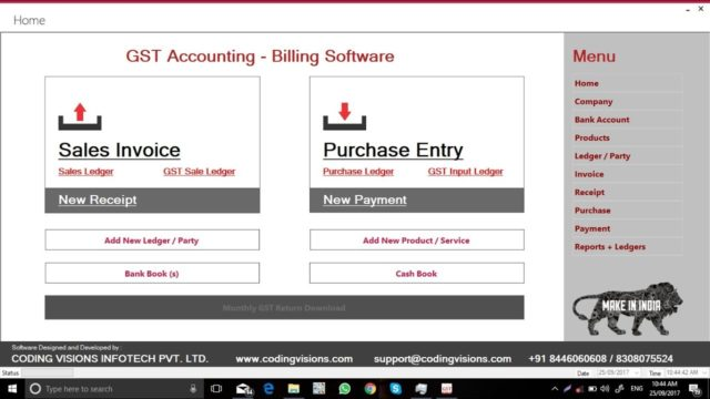 GST Accounting Software by Coding Visions | Complete Software Walk-through