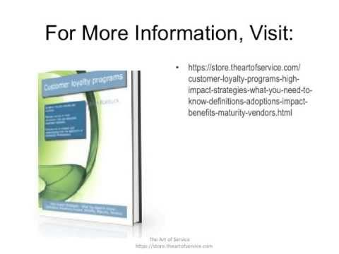 Customer loyalty programs  High impact Strategies   What You Need to Know  Definitions  Adoptions  I