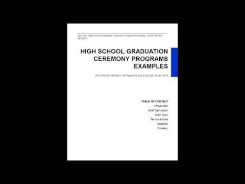 High School Graduation Ceremony Programs Examples