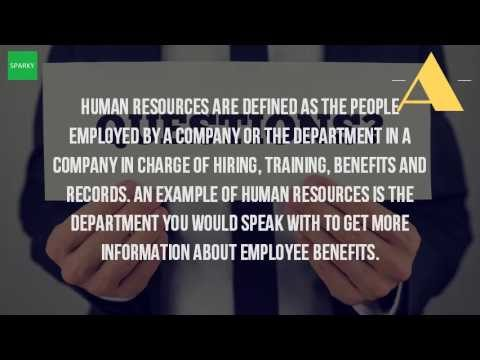 What Are Some Examples Of Human Resources?