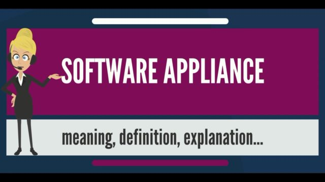 What is SOFTWARE APPLIANCE? What does SOFTWARE APPLIANCE mean? SOFTWARE APPLIANCE meaning
