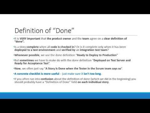 Sprint Planning   17  Definition of Done