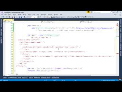 Intro to Dynamics CRM – 25 – Querying CRM Using C#