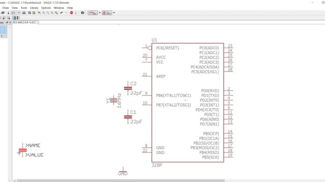 EAGLE CAD PCB Part 1: learn to make a schematic