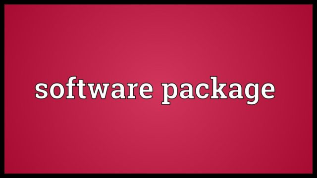 Software package Meaning