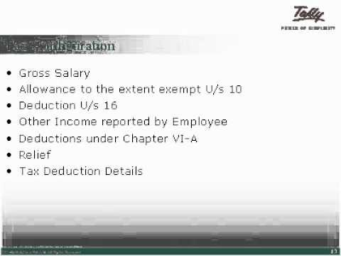 """Income Tax Computation"" in  Tally.ERP 9 Accounting Software"