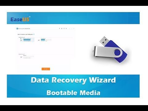 EaseUS Data Recovery Wizard utilisation WinPE bootable disk