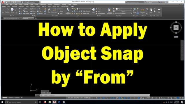 AutoCAD tutorial | How to apply From snap feature when drawing CAD