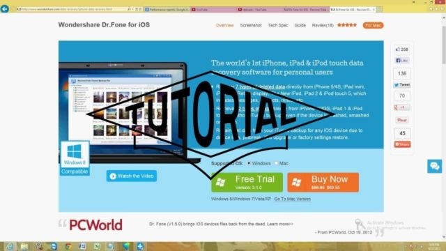 How To Recover Files From Your Iphone Using Wondershare Dr Fone for iOS