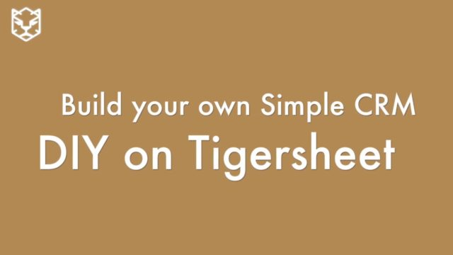 Build Your Own Simple CRM – DIY on Tigersheet