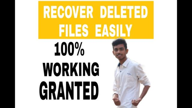 Recover lost data easily 100% WORKING