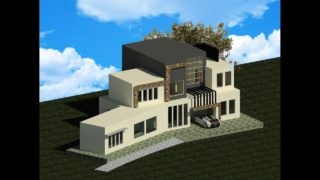 Modern House Modeling in  Revit Architecture 2017