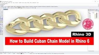 Cuban Chain 3D model in Rhino 6 (2018)- Jewelry CAD Design Tutorial #26