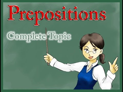 Prepositions in English grammar with examples in Urdu
