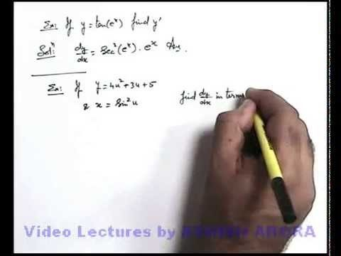 11. Physics | Basics of Differentiation | Examples on Direct Applications of Chain Rule