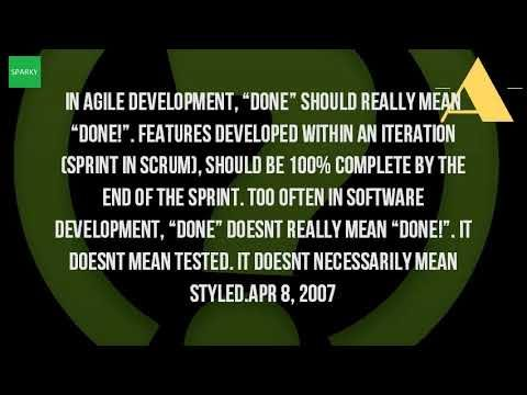 What Is The Definition Of Done In Agile?