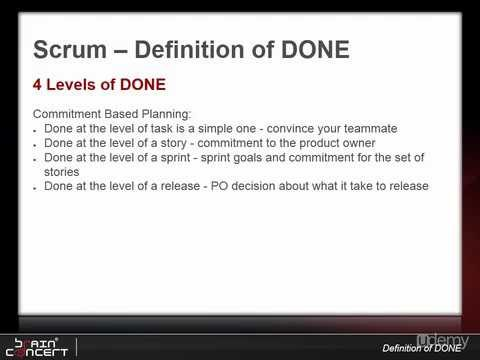 09 Understanding Definition of DONE
